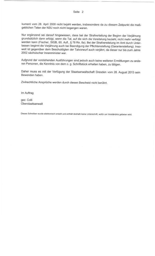 Einstellungsbescheid Generalstaatsanwaltschaft Sachsen0002